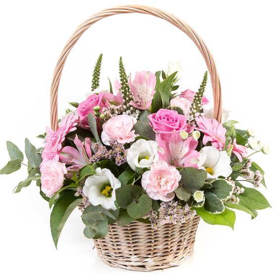 Pink & Cream Basket